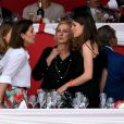 Semi-Exclusif - La princesse Caroline de Hanovre et sa fille Charlotte Casiraghi le 24 juin 2017 à la soirée de gala du Jumping de Monaco, étape du Longines Global Champions Tour. © Bruno Bebert / Bestimage