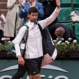Novak Djokovic (1/4 de finale) - Jour 11 - Les célébrités dans les tribunes des internationaux de tennis de Roland Garros à Paris. Le 7 juin 2017 © Jacovides-Moreau / Bestimage