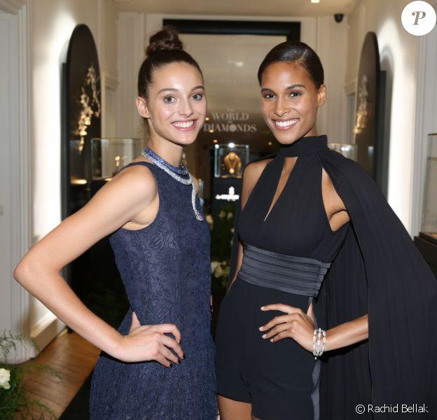 Exclusif : Jenaye Noah et Cindy Bruna - Dîner privé de de GRISOGONO à Paris. Le 5 juillet 2017.