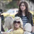 Tori Spelling, Jessica Stroup et Jennie Garth en plein tournage de West Beverly High