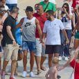 Cristiano Ronaldo en vacances avec sa compagne Georgina Rodriguez à Formentera. Le 8 juillet 2017.