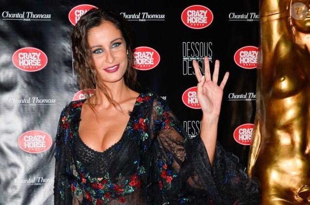 """Malika Ménard (Miss France 2010) à l'avant-première du show """"Chantal Thomass"""" au Crazy Horse à Paris, le 5 octobre 2016. © Guirec Coadic/Bestimage"""