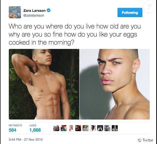 Zara Larsson sur Twitter, le 27 novembre 2015.