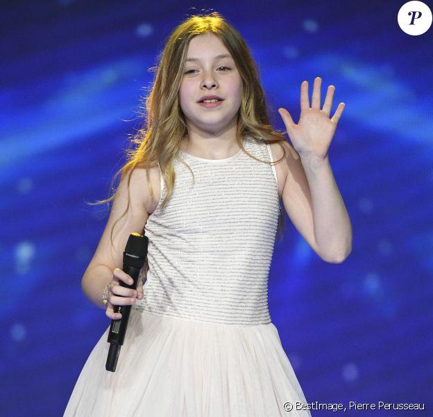 """Exclusif - Gloria, Kids United - Enregistrement de l'émission """"Les 40 ans du Disco"""" au Palais des Sports de Paris le 28 mars 2017. © Pierre Perusseau/Bestimage"""