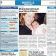 Aurélie Vaneck a présenté sa petite Liberté dans La Provence dans son édition du 2 février 2009