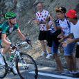 Thomas Voeckler dans le col de Vizavonna, en Corse, lors du Tour de France 2013.