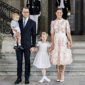 Victoria de Suède avec son mari et leurs enfants : Robe sublime pour ses 40 ans