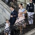 La princesse Victoria de Suède fête son 40ème anniversaire en assistant à une messe en compagnie de son mari, le prince Daniel et de leurs enfants, la princesse Estelle et le prince Oscar au palais Royal de Stockholm en Suède, le 14 juillet 2017.