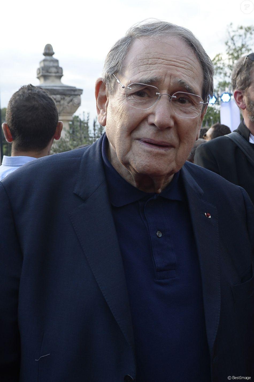 "Robert Hossein lors de l'hommage rendu à Jean-Paul Belmondo: ""Marseille fête Belmondo"" au Château de la Buzine."