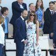Edouard Philippe et Melania Trump lors du défilé du 14 juillet (fête nationale), place de la Concorde, à Paris, le 14 juillet 2017, avec comme invité d'honneur le président des Etats-Unis. © Dominique Jacovides/Sébastien Valiela/Bestimage