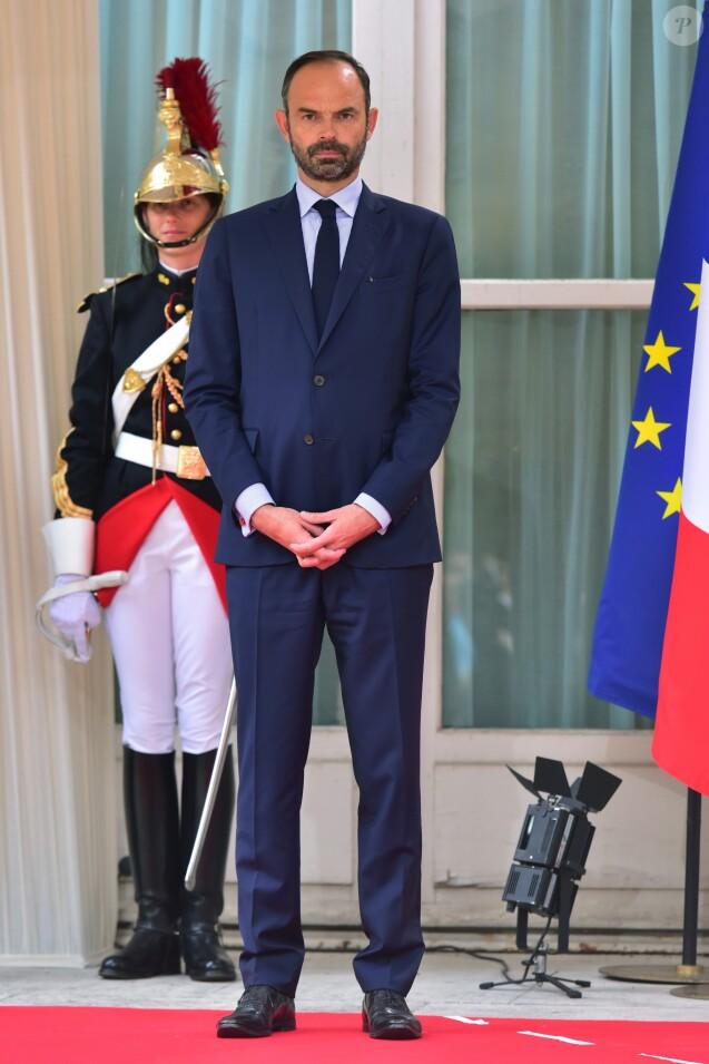 Le premier ministre Edouard Philippe lors de la réception en l'honneur des forces armées françaises au ministère de la Défense, à l'Hôtel de Brienne, à Paris, le 13 juillet 2017 © Giancarlo Gorassini/Bestimage