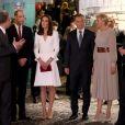 Le prince William et la duchesse Catherine de Cambridge lors de leur visite du Musée de l'Insurrection de Varsovie le 17 juillet 2017 lors de leur visite officielle en Pologne.
