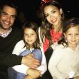 Cash Warren et Jessica Alba aux côtés de leurs filles Honor et Haven le 5 juillet 2017