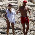 Cristiano Ronaldo en vacances avec sa compagne Georgina Rodriguez et Cristiano Ronaldo Jr se baladent à Formentera le 11 juillet 2017.