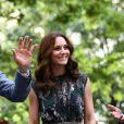 Le prince William et Kate Middleton, duc et duchesse de Cambridge, visitaient le 20 juillet 2017 la Clarchens Ballhaus, la plus ancienne salle de bal de Berlin, dans le cadre de leur visite officielle en Allemagne.