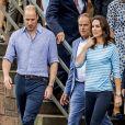 """Le prince William, duc de Cambridge et Catherine Kate Middleton, duchesse de Cambridge en visite au """"Alte Brücke"""" (Vieux Pont) à Heidelberg, le 20 juillet 2017.20/07/2017 - Heidelberg"""