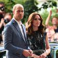 Le prince William et Kate Middleton, duc et duchesse de Cambridge, ont visité le 20 juillet 2017 la Clärchens Ballhaus, la plus ancienne salle de bal de Berlin, dans le cadre de leur visite officielle en Allemagne.