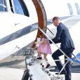 Kate Middleton et le prince William ont achevé leur visite officielle en Allemagne avec leurs enfants le prince George et la princesse Charlotte de Cambridge le 21 juillet 2017, décollant de Hambourg pour regagner le Royaume-Uni.
