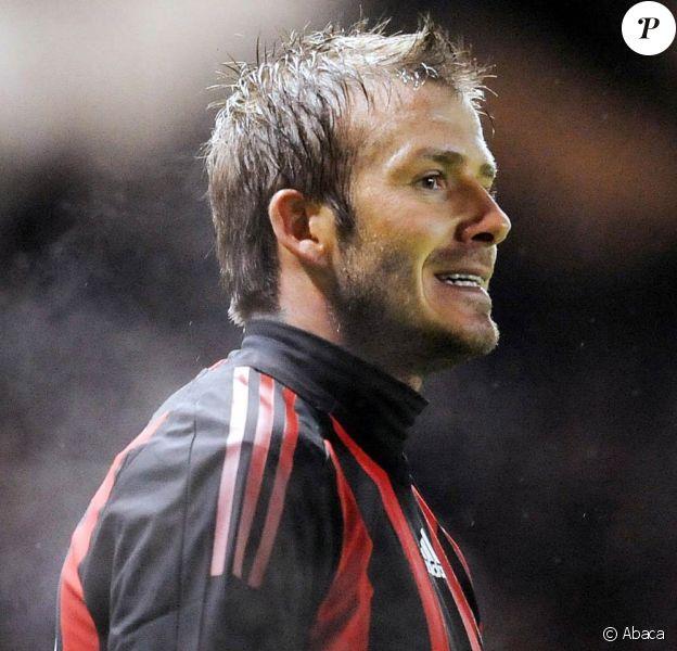 David Beckham, en plein entraînement avec le Milan AC