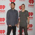 """Linkin Park, Mike Shinoda, Chester Bennington - Celebrites au 2eme jour du festival de musique """"iHeartRadio"""" a Las Vegas, le 22 septembre 2012."""