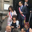 Anne Hidalgo - Bruno Julliard (premier adjoint à la Maire de Paris chargé de la Culture, du patrimoine, des métiers d'art, des relations avec les arrondissements et de la nuit) s'est marié avec Paul Le Goff à la mairie du 10e arrondissement de Paris, le 8 juillet 2017.