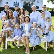 Famille royale de Suède : Photo estivale avec Sofia enceinte et tous les enfants