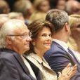 Le roi Carl XVI Gustaf et la reine Silvia de Suède ont assisté à un concert au Théâtre Prinzregent à Munich le 24 juillet 2017.