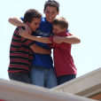 """Frankie Muniz, Justin Berfield et Erik Per Sullivan dans la série """"Malcolm""""."""