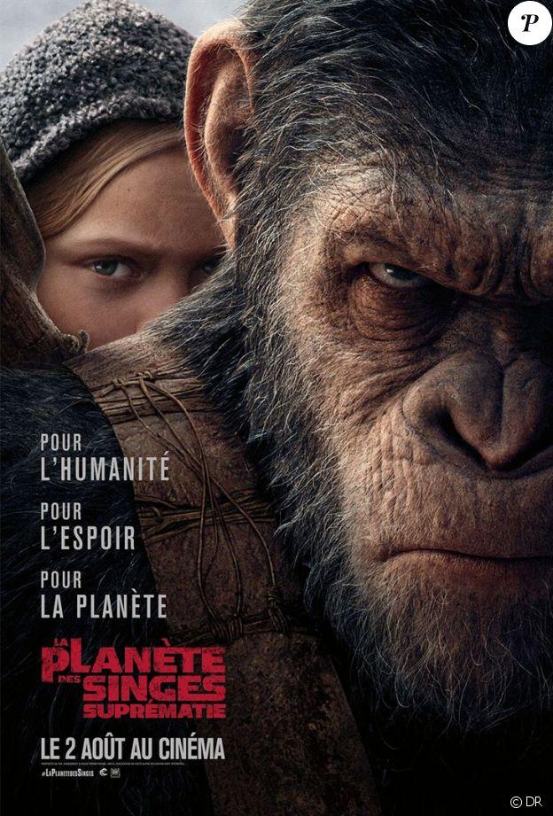 Affiche du film La Planète des singes - Suprématie, en salles le 2 août 2017