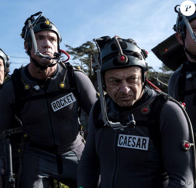 Andy Serkis sur le tournage du film La Planète des singes - Suprématie, en salles le 2 août 2017