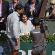 Jérôme Golmard (40 ans) dans les tribunes du tournoi de Roland-Garros, à Paris le 31 mai 2014.