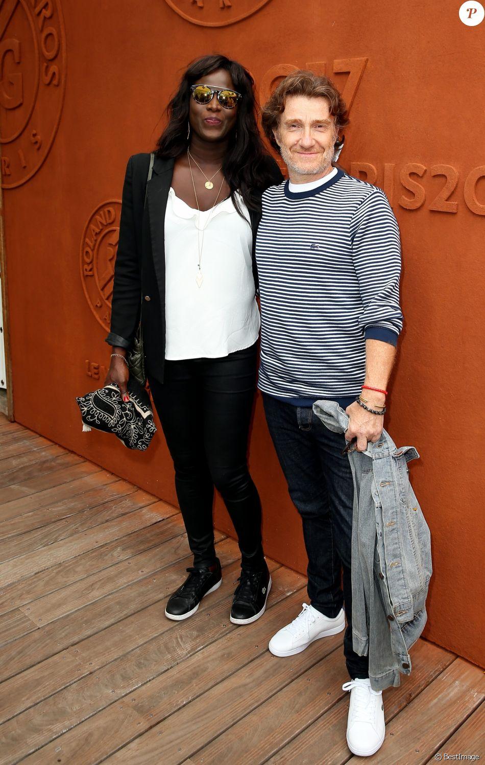 Thierry Frémont et sa femme Gina au village des Internationaux de Tennis de Roland Garros à Paris le 7 juin 2017 © Cyril Moreau-Dominique Jacovides/Bestimage