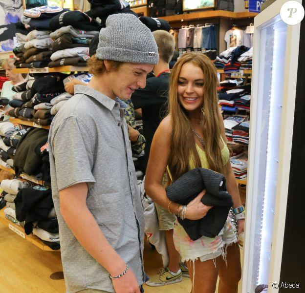 Lindsay et Cody Lohan à Huntington Beach, Los Angeles. Août 2012.