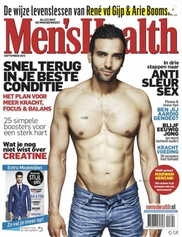 Marwan Kenzari en couverture de GQ édition néerlandaise en 2013