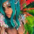 Photo de Rihanna à La Barbade, pour le festival Crop Over 2017. Août 2017.