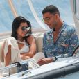 Kourtney Kardashian et son compagnon Younes Bendjima à Cannes le 24 mai 2017.