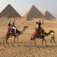Kourtney Kardashian, Younes Bendjima, Simon Huck et son amie Emilie en Égypte. Août 2017.