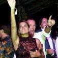 Simona Ventura et son compagnon Gian Gerolamo Carraro le 8 août 2017 à la soirée du 65e anniversaire de Fawaz Gruosi, fondateur de la marque de joaillerie De Grisogono, sur le thème Time to Shine à l'hôtel Cala di Volpe à Porto Cervo, en Sardaigne. © Dominique Jacovides/Bestimage