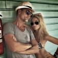 Karine Grandval et son compagnon Laurent Morhain, le 7 août 2017 aux Bahamas.