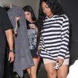 Kylie Jenner, son petit ami Travis Scott, sa meilleure amie Jordyn Woods, sa grande soeur Khloé Kardashian et son compagnon Tristan Thompson à Westlake, le 10 août 2017.