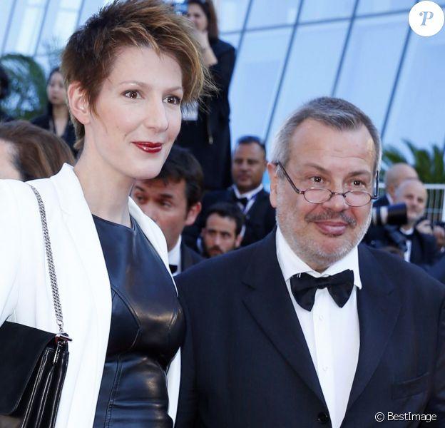 """Natacha Polony et son mari Périco Légasse - Montée des marches du film """"The Little Prince"""" (Le Petit Prince) lors du 68e Festival International du Film de Cannes, à Cannes le 22 mai 2015."""
