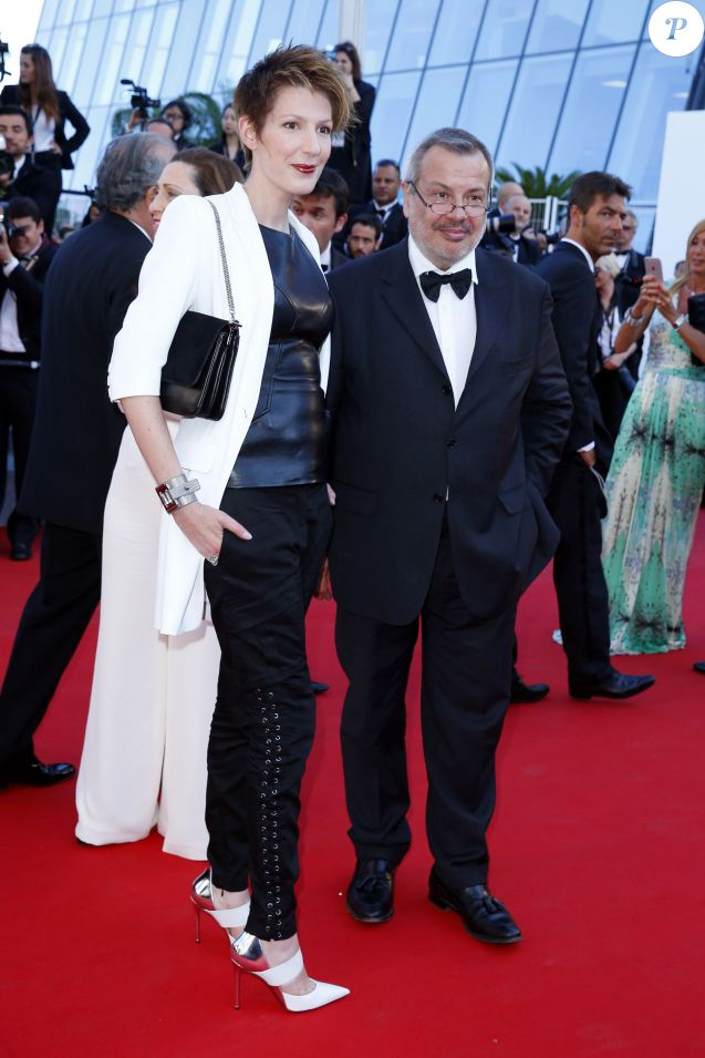 "Natacha Polony et son mari Périco Légasse - Montée des marches du film ""The Little Prince"" (Le Petit Prince) lors du 68e Festival International du Film de Cannes, à Cannes le 22 mai 2015."