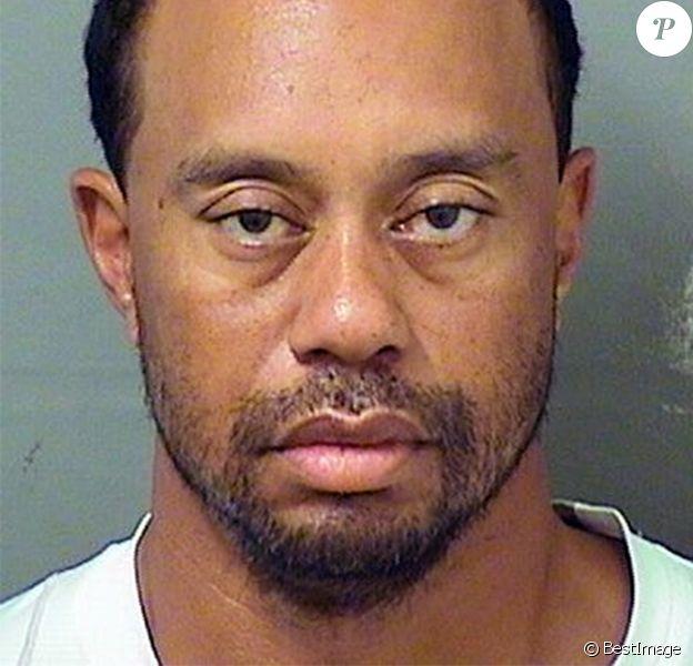Mugshot de Tiger Woods, qui a été arrêté pour DUI (Driving Under Influence) au volant de sa voiture lors d'un contrôle routier à Jupiter en Floride, le 29 mai 2017.