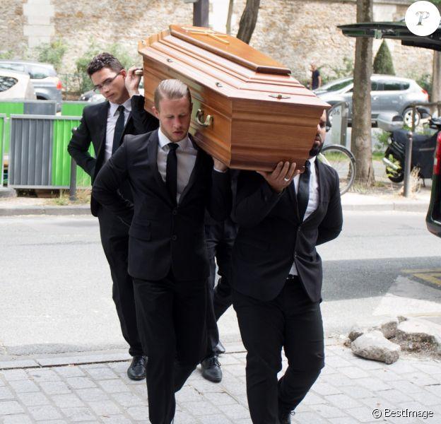 Obsèques de Christian Millau en la basilique Notre-Dame du Perpétuel Secours à Paris le 16 août 2017.
