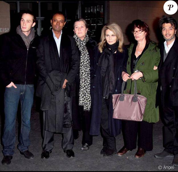Darius Langmann, sa mère Sylvie, Nathalie Rheims, Arlette (la soeur de Claude Berri) et Thomas Langmann
