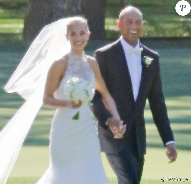 Exclusif - Image du mariage de Derek Jeter et Hannah Davis, le 9 juillet 2016 dans la Napa Valley. Le couple a accueilli le 17 août 2017 son premier enfant, une fille.