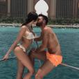 """""""Nabilla et Thomas s'embrassant langoureusement à Dubaï, le 4 juin 2017."""""""