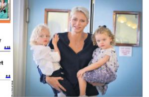 Charlene de Monaco, Jacques et Gabriella : Visite surprise à des seniors heureux