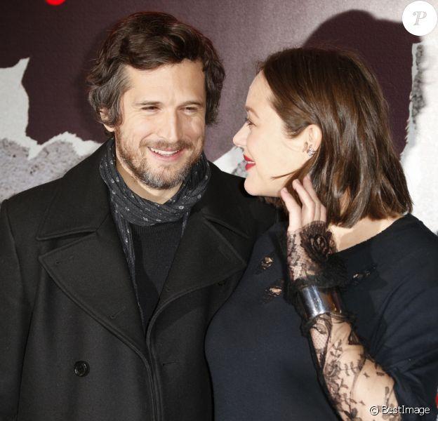 """Marion Cotillard et Guillaume Canet - Avant-première du film """"Rock'n Roll"""" au Pathé Beaugrenelle à Paris le 13 février 2017."""