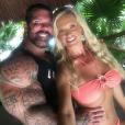 """""""Rich Piana et sa compagne Chanel Jansen en vacances à Cancun, photo Instagram du 23 juin 2017. Le bodybuilder est mort à 46 ans le 25 août 2017."""""""